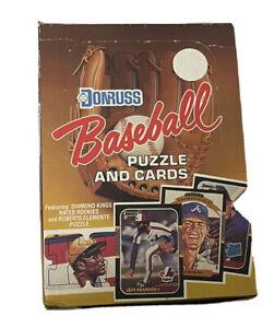 1987 Donruss Baseball Hobby Box 36 Packs Gem Original FASC