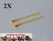 2X Lego® 2569 Antenne, Antenna 1X1X8 Gelb, Yellow, 4124458