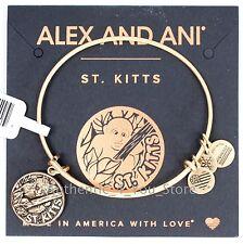 NEW ALEX AND ANI St. Kitts Exclusive GOLD Vervet Monkey Charm Bangle Bracelet