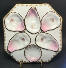 Antique Austrian Bohemian Oyster Plate Wilhelm & Graef Nyc Importers c.1875-1900