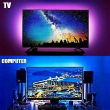 LED TV USB Backlight Kit Computer RGB Light Strip Background Lights 4 x 40cm BP