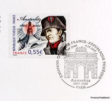 Yt  3782 AUSTERLITTZ  TCHEQUE  FRANCE  FDC  NOTICE PHILATELIQUE  PREMIER JOUR