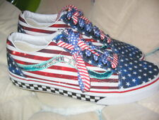 VANS OFF THE WALL SIZE 9 MENS OR 10.5 WOMENS BRAND NEW SNEAKERS, AMERICAN FLAG