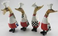 DCUK wooden bamboo chef ducklings handmade ornaments