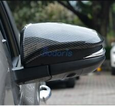 For Toyota Innova 2016 2017 Carbon Fiber Door Mirror Overlay Rear View Cover