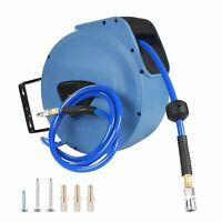 "3/8"" X 65 ft Retractable Hose Reel Auto Rewind Hybrid Air Compressor Garage Tool"