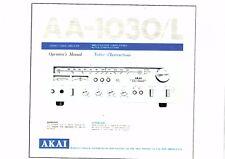 AKAI manuale di istruzioni user manual Owners Manual per AA - 1030/l