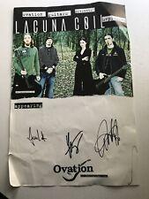 Lacuna Coil * Cristina * Andrea * Cristiano * Autographed 12�x18� Promo Poster