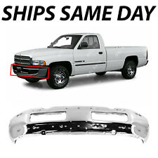 NEW Chrome - Steel Front Bumper Face Bar for 1994-2001 Dodge RAM 1500 2500 3500