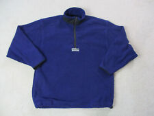 VINTAGE Adidas Sweater Adult Medium Blue Black Spell Out Pullover Mens 90s