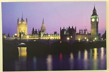 Large Houses of Parliament Canvas Picture Print With LED Lights