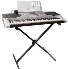 X Shape Black Music Keyboard Electronic Piano Single-Tube Adjustable Stand B2
