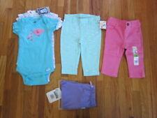 new LOT 6x clothes GIRL 3-6 M months 3x bodysuit 3-9 M 3x long pants