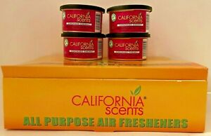Lot Of 4 California Scents (CORONADO CHERRY) Car Scent Air Fresheners