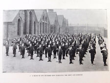 Edwardian boys school photo Outdoor keep fit exercise lesson Physical education