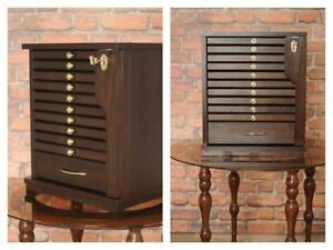 Chest COIN Drawers Tray Collection CABINET /10 Trays +1 Drawer Perfect for Coins