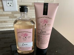 BATH AND BODY WORKS AROMATHERAPY LOVE VANILLA  ROSE 2 PIECE SET