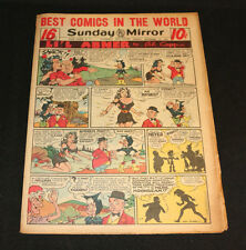 1951 Sunday Mirror Weekly Comic Section September 16th (Fine) Superman Lil Abner