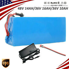 48V/36V 14/16/10AH Lithium li-ion Battery ebike Bicycle E Bike Electric Charger