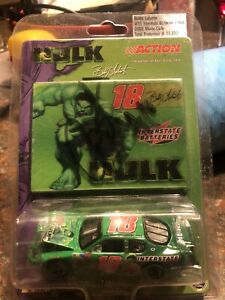 ACTION AUTOGRAPHED Bobby Labonte Marvels Hulk Interstate Batteries 1-64 Diecast
