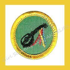 MINSTREL Cadette Girl Scout NEW Badge Guitar Banjo Music 1960s Multi=1 Ship Chrg