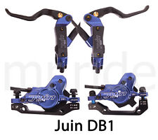 JUIN DB1 Hydraulic Mountain Bike Disc Brake Set W/ Rotor 160mm*2 Blue