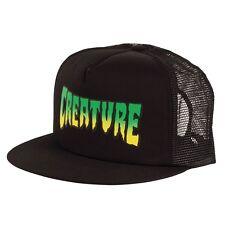 Creature LOGO Skateboard Trucker Hat BLACK