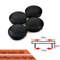 4Pcs Black ABS Plastic 58mm / 53mm Auto Car Modified Wheel Center Hub Caps Cover