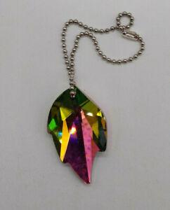Swarovski Crystal Vitrail Light 32mm Leaf 8805 Ornament/ Suncatcher; RARE
