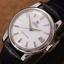 Authentic Omega Seamaster Date White Dial Automatic Cal.562 Mens Wrist Watch