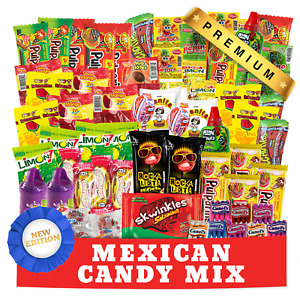 Mexican Candy Variety Mix (90 Count) Spicy & Sweet Pelon, Lucas And Pulparindo
