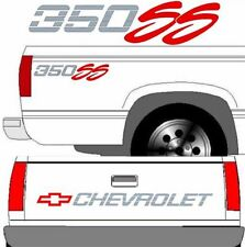 CHEVROLET SS Tailgate Truck Lettering + (2) 350 SS Vehicle Vinyl Decal SET