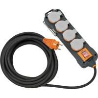 Brennenstuhl professionalLINE Steckdosenblock Extension Socket 4xStecker IP54 8m