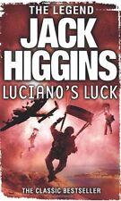 JACK HIGGINS _____ LUCIANO`S LUCK ______ BRAND NEW __ FREEPOST UK