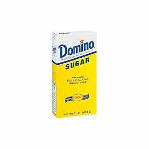 Domino Sugar Premium Pure Cane Granulated Non GMO 16 oz (3-Boxes)