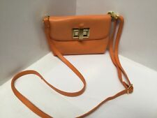 Womens Shoulder Bag Clutch Handbag Orange Small Detachable Strap Rowallan H4