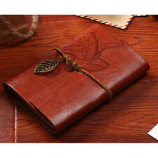 Brown Vintage Notebook Diary String Leaf Travel Leather Journal Sketchbook Gifts
