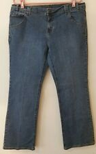 Fubu Classic Jeans Women Size 16 Blue 5 Pocket Boot Cut Denim