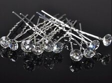 10pcs crystal 8mm bridal hair pins accessories clips hairpins wedding party