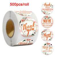 500PCS Flower Personalized Weddin Stickers Invitations Gift Boxes Labels