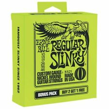 **3 PACK ERNIE BALL 2221 REGULAR SLINKY NICKEL ELECTRIC GUITAR STRINGS 10-46**