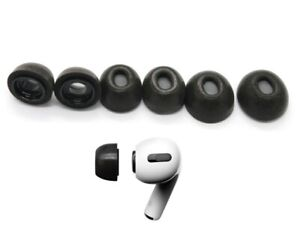 Replacement Ear Tips for Apple Airpods Pro; Memory Foam Tips Airpod Pro - 3 Pair