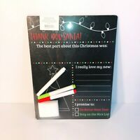 Office Depot Christmas Holiday Photo Prop Chalkboard Sign Double Sided Brand New