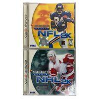 NFL 2K NHL 2K Sega Dreamcast 2 Game Bundle Complete Tested Manual