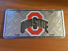 OHIO STATE Block O Diamond Cut - OSU Metal Novelty License Plate Sign
