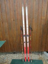 """Ready to Use Cross Country 77"""" CCM RAPIDE 200 cm Skis With Poles"""