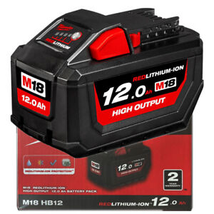 Genuine Milwaukee M18HB12 18V M18 Red Lithium High Output Battery 12 Ah -Genuine