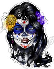 "Sugar Face Skull Mexican Culture Ethnic Car Bumper Vinyl Sticker Decal 4""X5"""