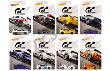 Hot Wheels GRAN TURISMO 2018 SET OF 8 MCLAREN LANCER GTR CORVETTE FKF26 1/64