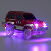 Funny LED Light Up Cars For Tracks Electronics Car Toys With Flashing Lights Fan